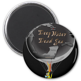Gas Can in Gulf Blimp 2 Inch Round Magnet
