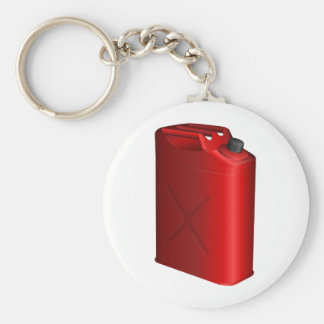 Gas Can Basic Round Button Keychain