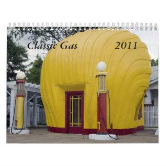 Gas clásico 2011 calendario de pared