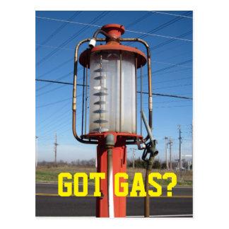 ¿GAS CONSEGUIDO? Bomba de gas antigua Postal