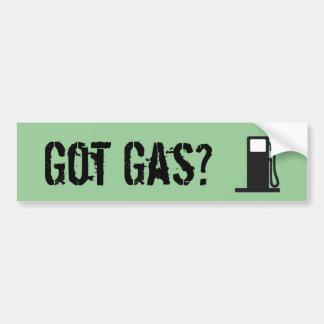 ¿Gas conseguido Etiqueta De Parachoque