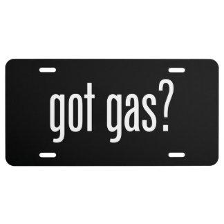 ¿gas conseguido? placa de matrícula