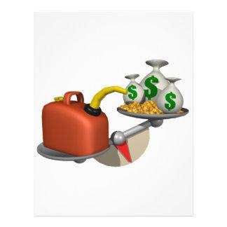 """Gas contra el dinero folleto 8.5"""" x 11"""""""