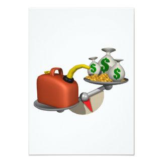 """Gas contra el dinero invitación 5"""" x 7"""""""