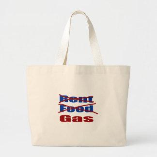 gas de la comida del alquiler bolsas lienzo