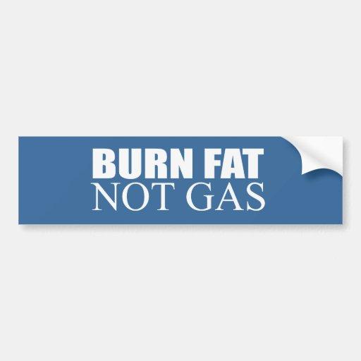 Gas de la grasa de la quemadura no pegatina de parachoque