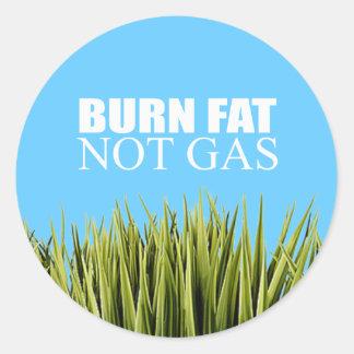 Gas de la grasa de la quemadura no etiqueta redonda