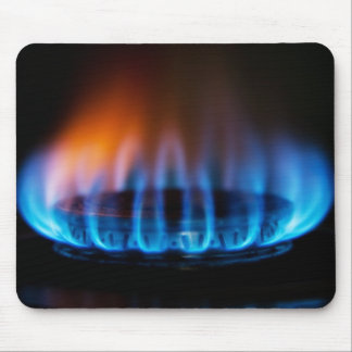 Gas electric fire flame mousepad