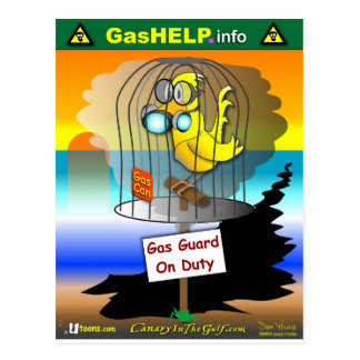 Gas Guard on Duty Postcard