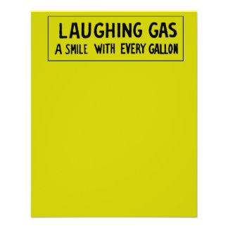 "Gas hilarante folleto 4.5"" x 5.6"""