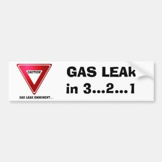 GAS LEAK, GAS LEAk in 3...2...1 Car Bumper Sticker