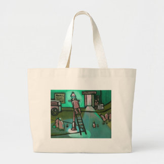 GAS LIGHT LARGE TOTE BAG