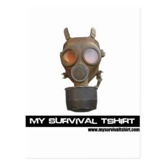 Gas Mask 06 Postcard