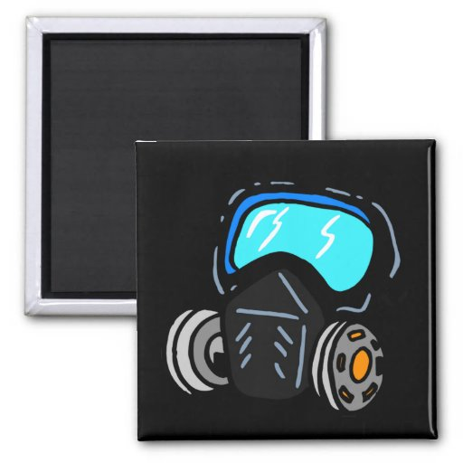 Gas Mask 2 Inch Square Magnet