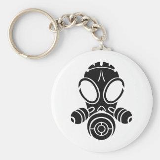 gas mask black keychain