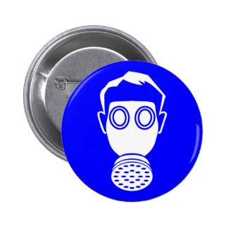 gas mask boy button