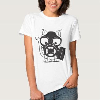 Gas Mask Cat T-shirt