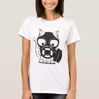 Gas Mask Cat T-Shirt