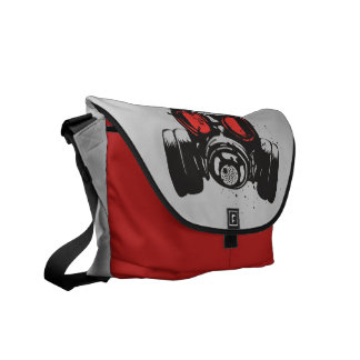 Gas Mask Courier Bag