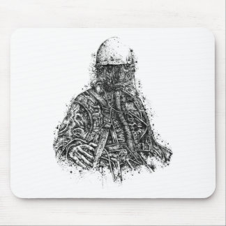 Gas Mask Custom Drawing Mouse Pad