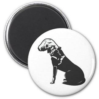 Gas Mask Doggie 2 Inch Round Magnet
