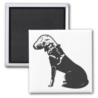 Gas Mask Doggie 2 Inch Square Magnet