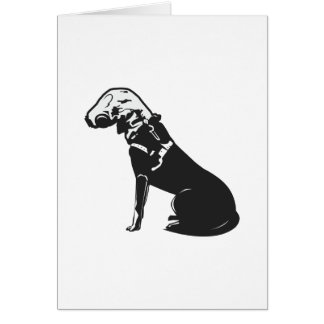 Gas Mask Doggie Card