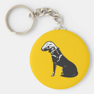 Gas Mask Doggie Keychain