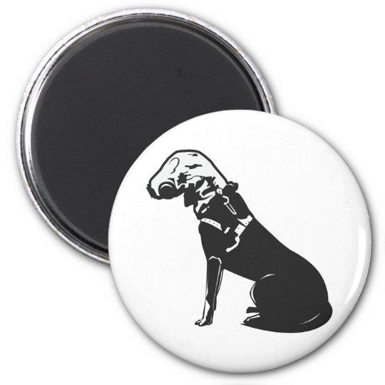 Gas Mask Doggie Magnet