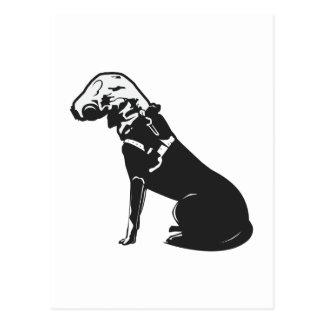Gas Mask Doggie Postcard