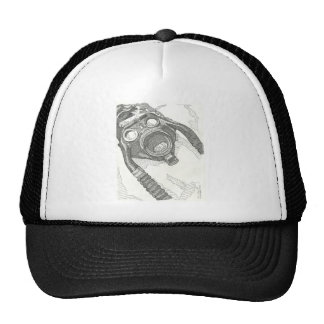 Gas mask drawing series trucker hat