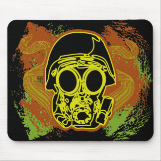 Gas Mask Fun Mouse Pad