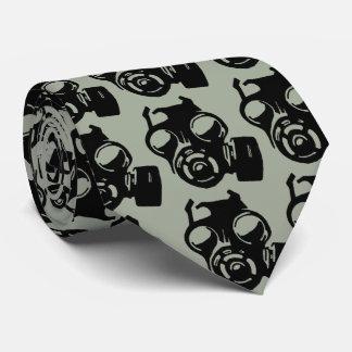 Gas Mask Gasmask Graphic Stencil Tie Necktie
