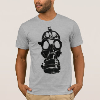 Gas Mask gray semi fitted mens tshirt