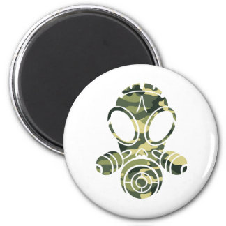gas mask green camo magnet