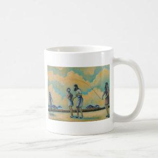 Gas Mask Jump Rope Coffee Mug
