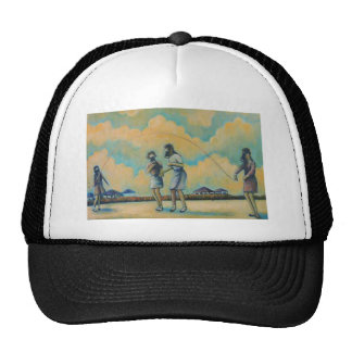 Gas Mask Jump Rope Trucker Hat