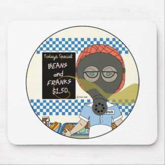 Gas Mask Lunch Lady Mousepad