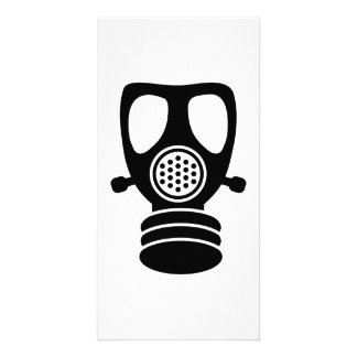 Gas mask photo card