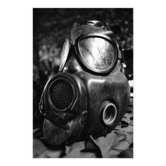 Gas mask photo print