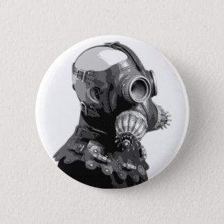 Gas Mask Pinback Button