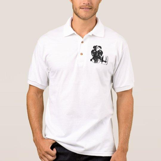 Gas Mask Polo Shirt (White)