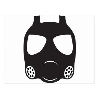 Gas Mask Postcard