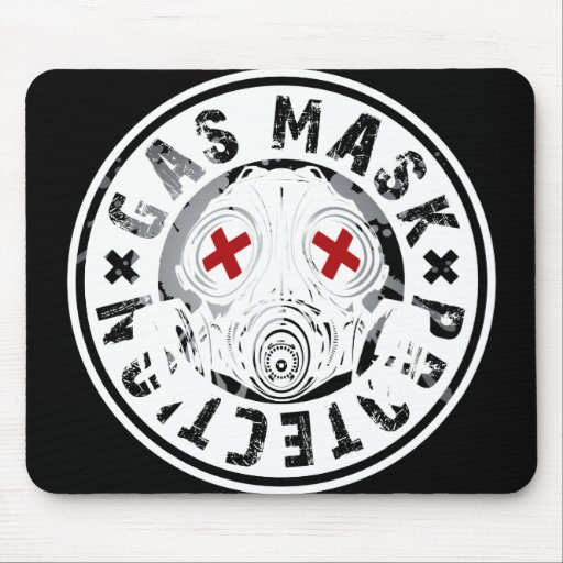 GAS_MASK_PROTECTION MOUSE PAD
