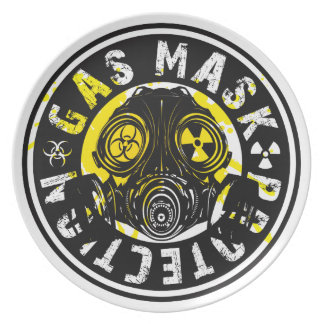 GAS_MASK_PROTECTION DINNER PLATE