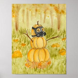 Gas-mask Pumpkin Poster