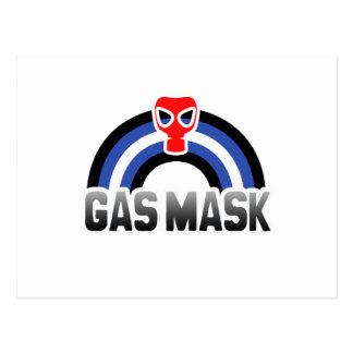 GAS MASK RAINBOW POSTCARD