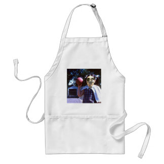 Gas mask red ball adult apron
