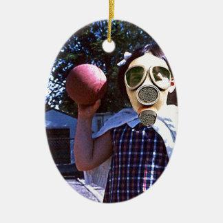 Gas mask red ball christmas tree ornaments