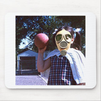 Gas mask red ball mousepads